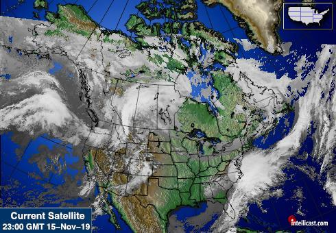North American Weather Satellite Image