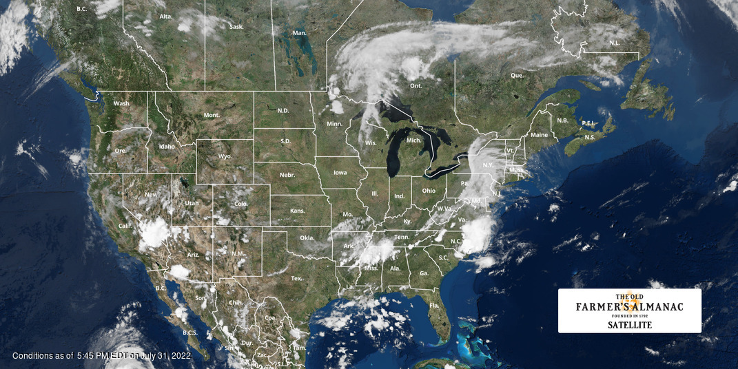North American Weather Satellite Map