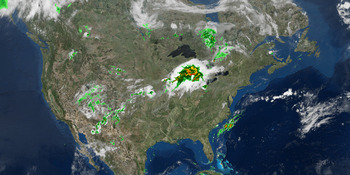 Satellite and Radar Map (Thumbnail)